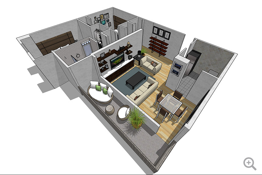 2 Bedroom / 2 Chambre